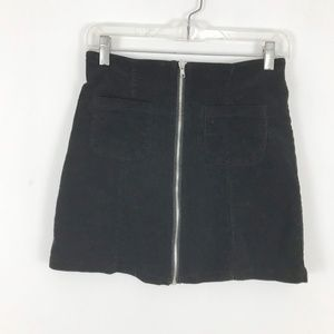 Brandy Melville mini corduroy skirt zipper front